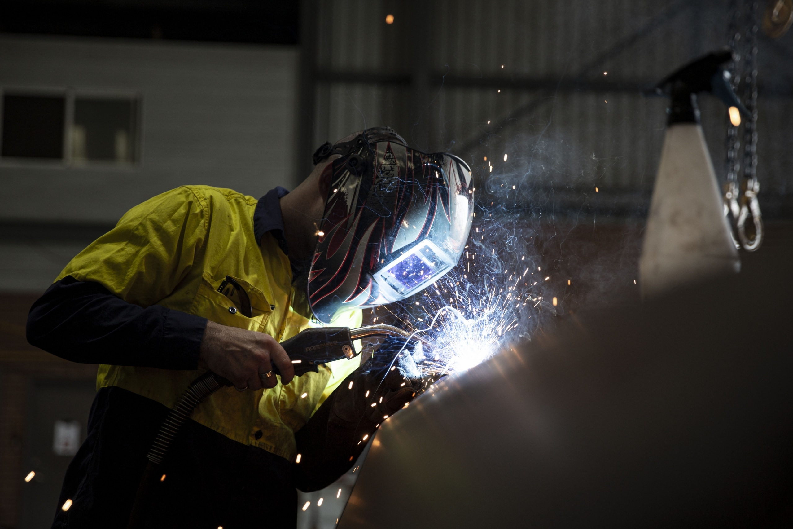 welding of the Hydrema water cart tank