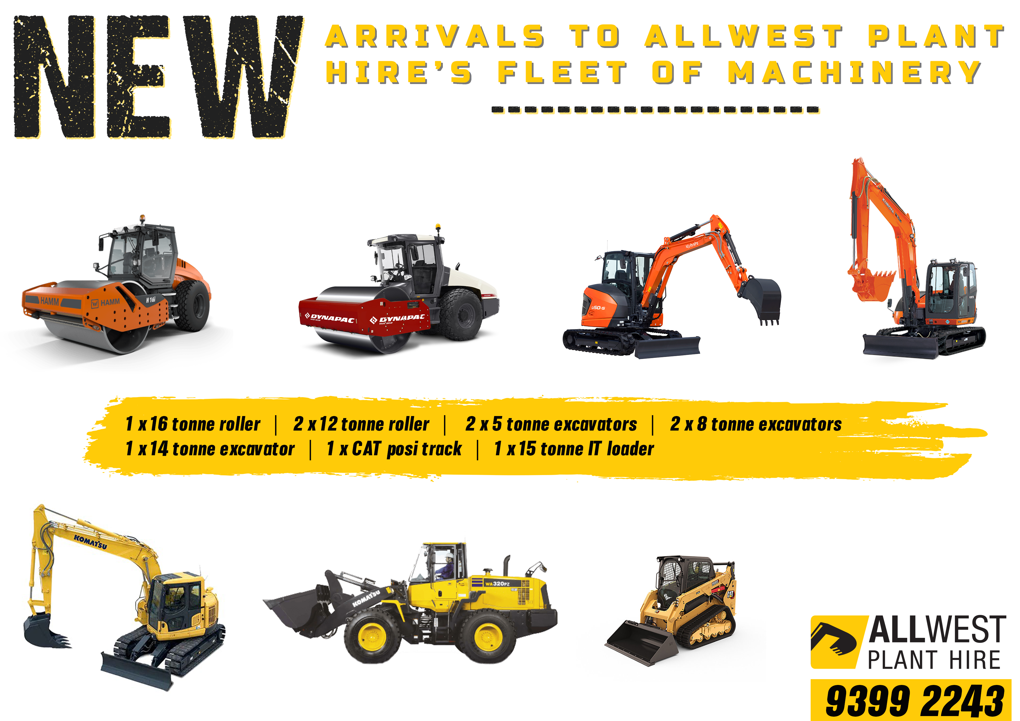New Arrivals All West Plant Hire